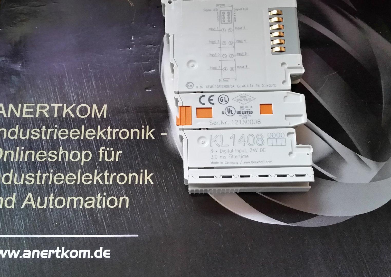 beckhoff 8 channel digital input module 24v dc kl1408 new. Black Bedroom Furniture Sets. Home Design Ideas