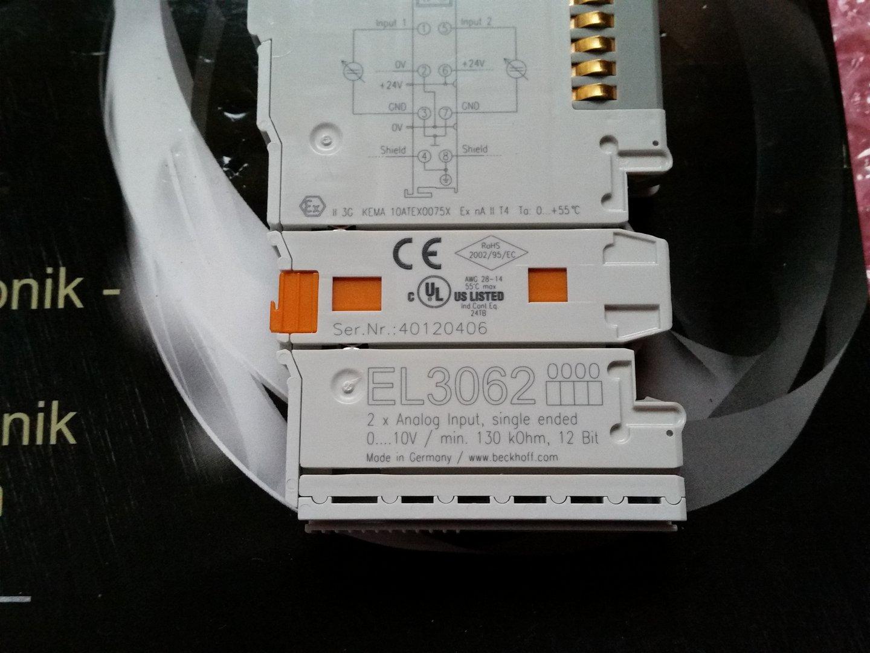 Beckhoff EL3062  2-channel analog input terminal 0…10 V single-ended